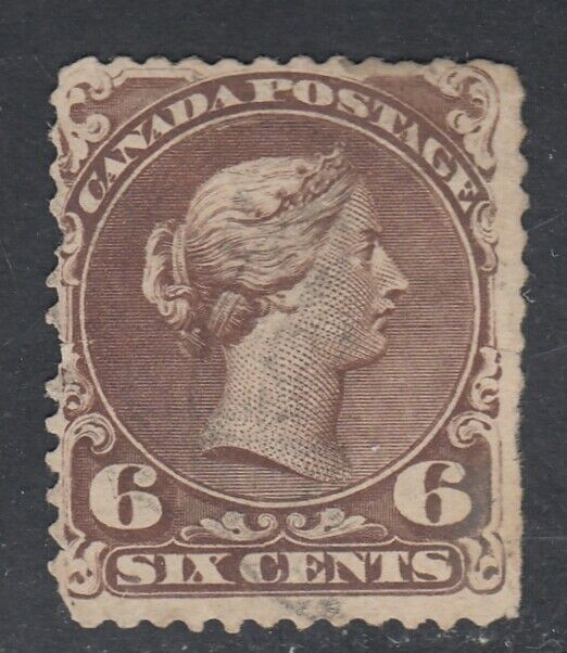 Canada Scott #27 6 cent dark brown