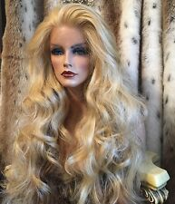 Glamour Girl ,HUMAN HAIR BLEND, Long 612 Blended Blonde, Lace front, HF  Wig!