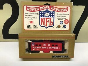 Mantua-HO-Scale-NFL-Super-Bowl-Express-Caboose-RTR-New-Old-Stock