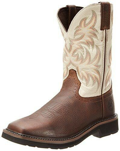 Justin Original Work Boots Men's Stampede Copper Kettle Cowhide 9 EE US