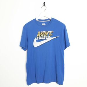 Vintage-NIKE-Big-Logo-T-Shirt-Tee-blue-Medium-M