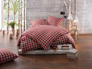 feinflanell karo landhaus bettw sche garnitur 100 baumwolle rot gr n kariert ebay. Black Bedroom Furniture Sets. Home Design Ideas