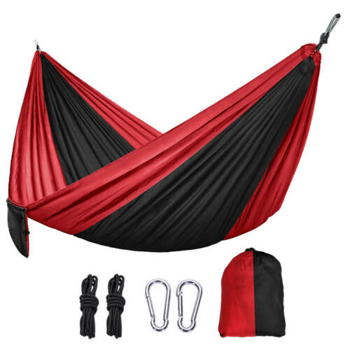 Camping Hammock Double Two 2 Person Parachute Tent Hiking Travel Outdoor Durable
