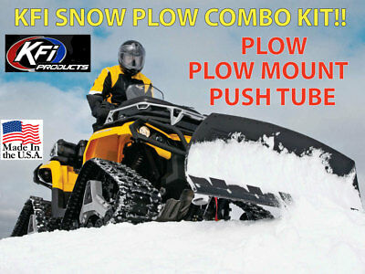 Open Trail by KFI 48 Steel Straight Blade Plow//Mount Bracket compatible with various 2013-on Can-Am Outlander /& Renegade Models Push Tube Kit