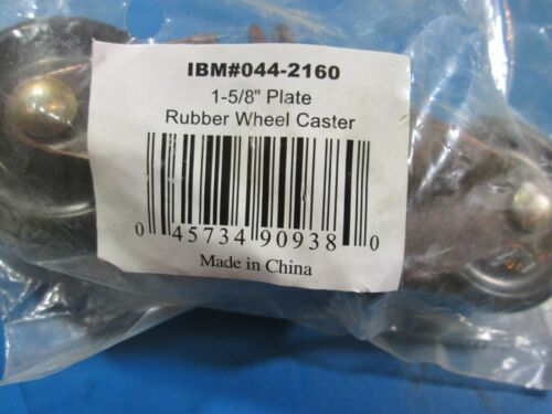 """1-5//8/"""" Plate Rubber Wheel Caster #044-2160 Pack Contains Wheels 2"""