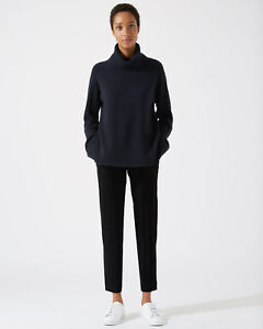 Trim New Donna Pantaloni Black Relaxed Rib Jigsaw qFOwR