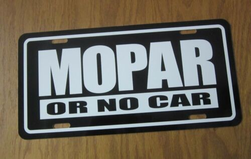MOPAR or No Car license plate TAG PLYMOUTH DODGE 1966 1967 1968 1969 1970 1971