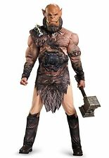 World of Warcraft Orgrim Doomhammer Costume Deluxe Muscles Adult Mens Orc XL