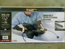 Cobra Pro Steel Core Cable 516x25 Hand Held Drain Cleaning Machine 1 3 Pipe