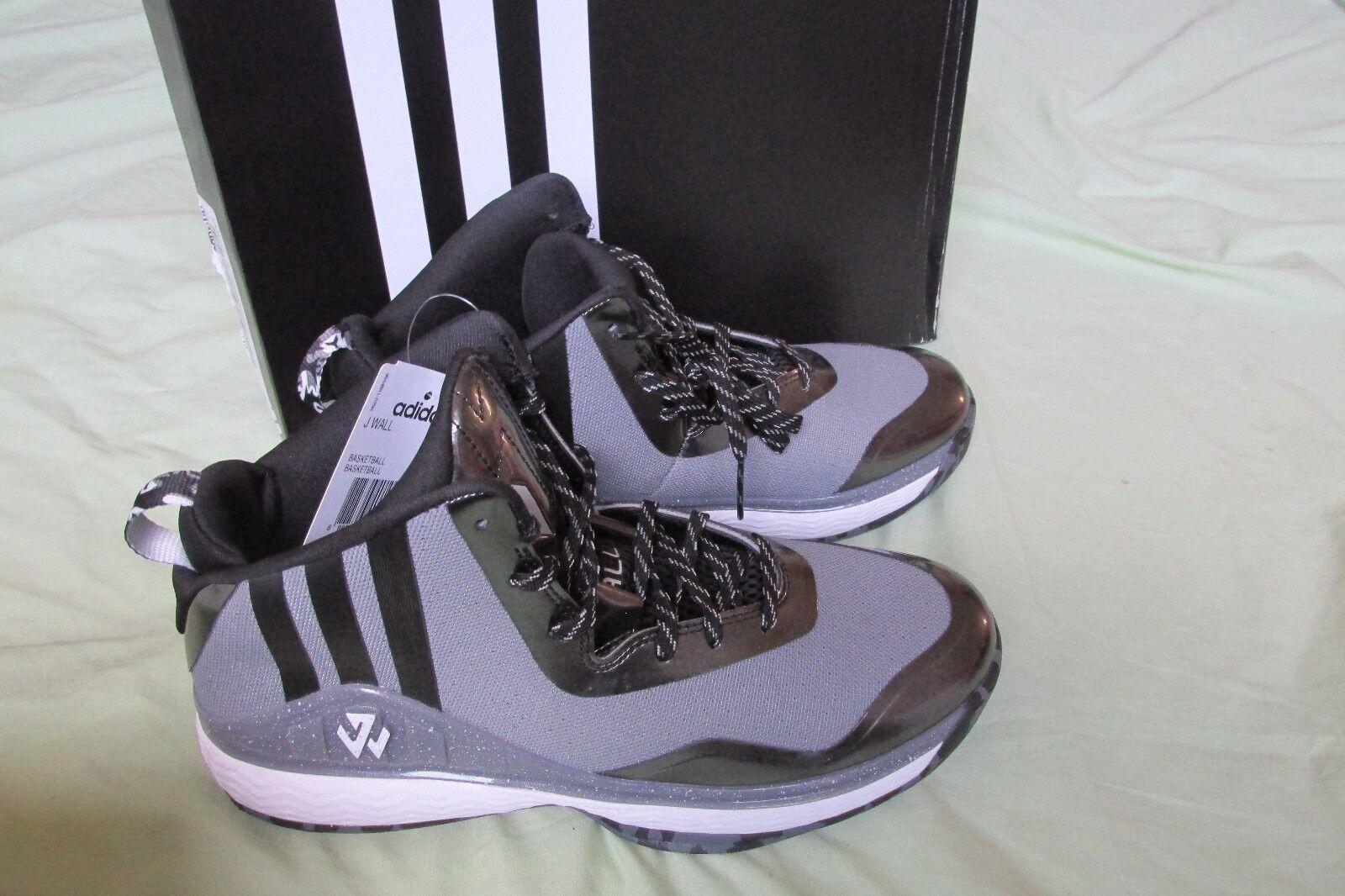Nuovo Adidas J Wall Medio Uomo Scarpe da Basket Taglia 8 Grigio Onice ~ Nero ~