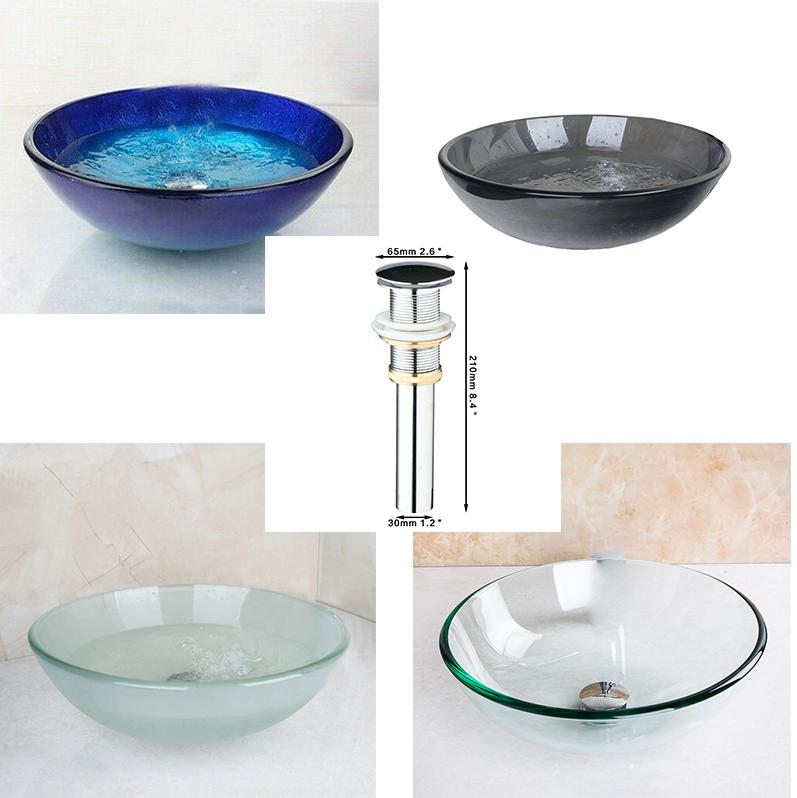 Plusieurs Série De Verre Trempé conteneurs, lavabo, évier