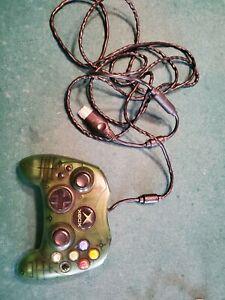 Microsoft-Original-Xbox-Green-Translucent-Type-S-Controller-W-Break-Away-Cable