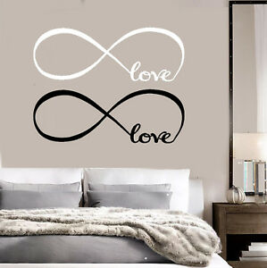 Infinity-Love-Sign-Car-Truck-Window-Wall-Art-Decor-Sticker-Decal-White-Black-2