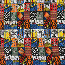 African Squares Print Fabric BY 1//2 YARD Ankara style kitenge fancy wax p776