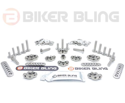 Suzuki GSXR400 R 1993 large headed stainless steel fairing cover bolts kit