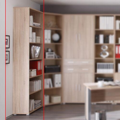 Büroregal offen mit 5 Böden Office Line Büromöbel Sonoma Eiche Dekor