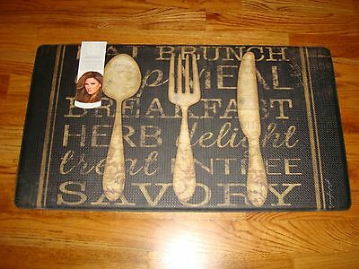 Anti Fatigue Memory Foam Comfort Kitchen Mat Rug 20x36 Vintage Utensils Brunch Ebay