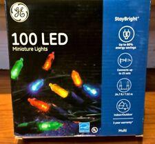 sylvania christmas lights 100 led mini lights multi color 3 inch spacing