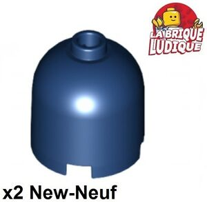 2x LEGO NEW 6x6 Dark Blue Brick Round Corner 6170124 Brick 95188
