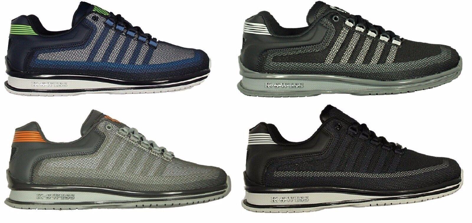 Totalmente nuevo para hombre K. SWISS RINZLER Con Cordones Zapatillas Calzado en Negro gris Azul Marino