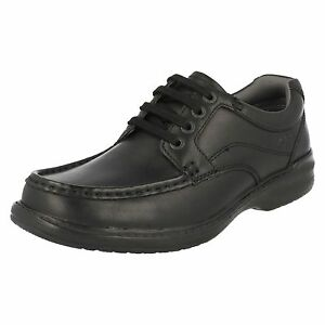 Clarks para cuero de Walk Keeler con hombre negro cordones Zapatos RO7pw8xqp