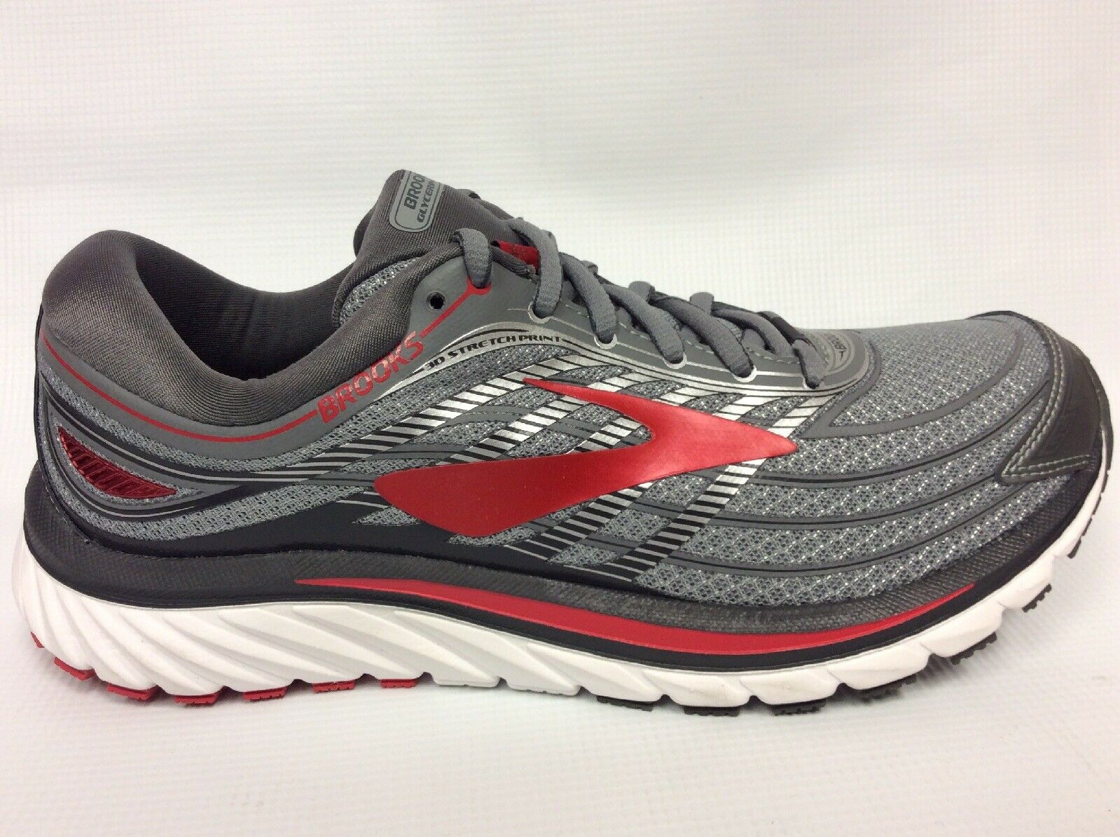 Brooks Glycerin 15 Running shoes Mens Size 8 D 110258-023 Grey Red NEW