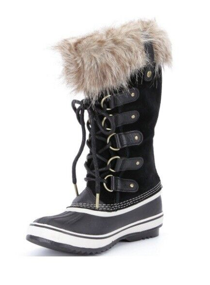New SOREL Joan Of Arctic Faux Suede Fur Cold Weather Waterproof Suede Faux Stiefel Size 7.5 8 fb0e58