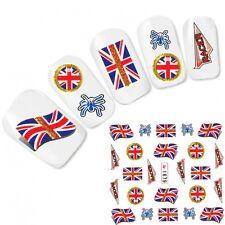 Tattoo Nagel Sticker Großbritannien Flagge Fußball Flag Nail Art Water Decal