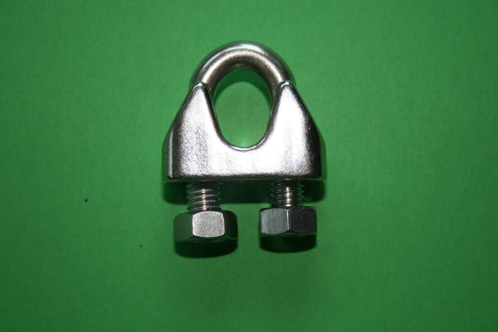 Drahtseilklemme, Bügelklemme, 2-12mm, Edelstahl A4