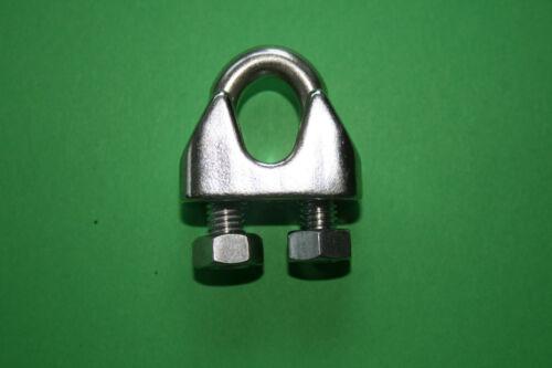 Drahtseilklemme Edelstahl A4 Bügelklemme 2-12mm
