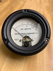 VINTAGE-NOS-ELECTRO-IMPULSE-LABORATORY-US-NAVY-RF-WATT-METER-0-6-1-5-STEAMPUNK