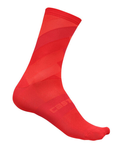 RED One Pair Castelli FREE KIT 13 cm Pro Height Cycling Socks