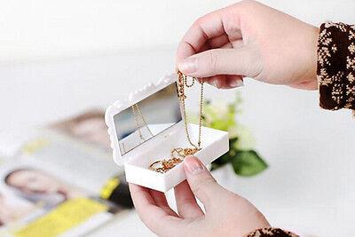 Fine Acrylic Makeup Cosmetic Storage Mirror Box Case Holder Organizer JB