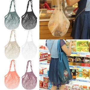 Turtle-Bag-ORGANIC-COTTON-STRING-NET-SHOPPING-Tote-Reusable-Mesh-Storage-Handbag