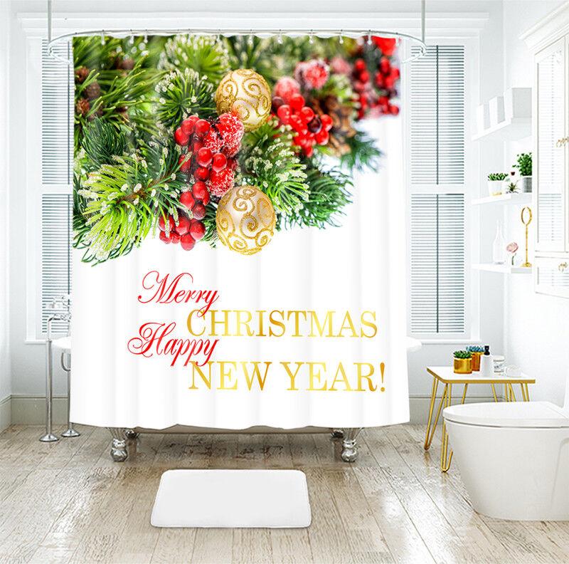 3D Weihnachten Xmas 01 Duschvorhang Wasserdicht Wasserdicht Wasserdicht Faser Bad Daheim Windows DE | Gewinnen Sie das Lob der Kunden  896adf