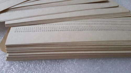 100  Lochkarten  Punch Cards  IBM card format 80 columns DDR Nos collectible
