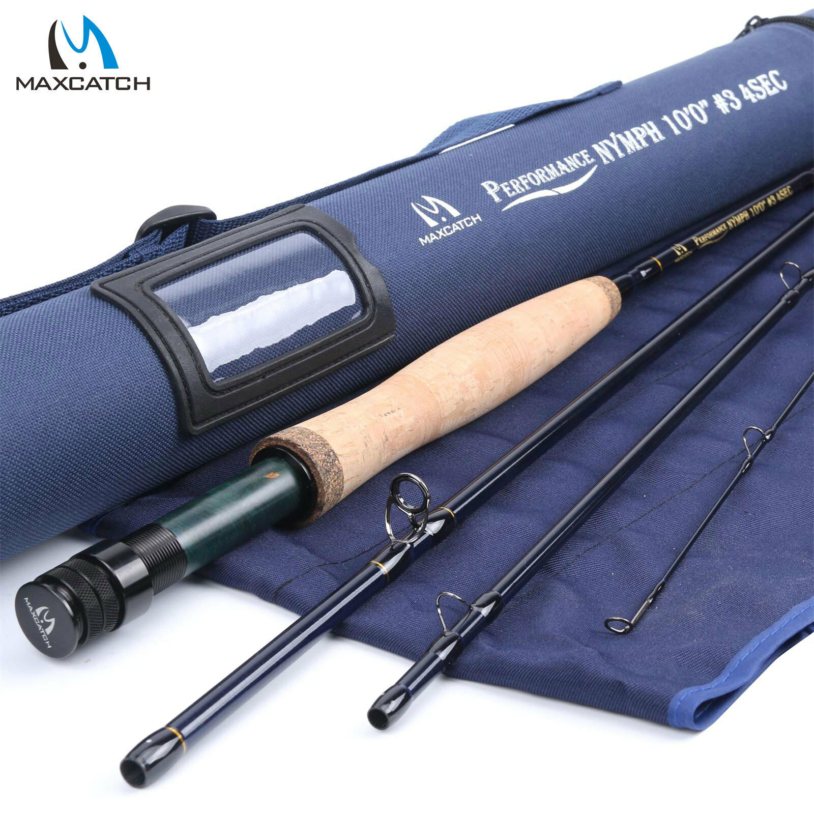 Maxcatch Nymph Fly Rod 2 3 4WT 10ft 4Sec Graphite IM10 Fast Action Fishing Rod