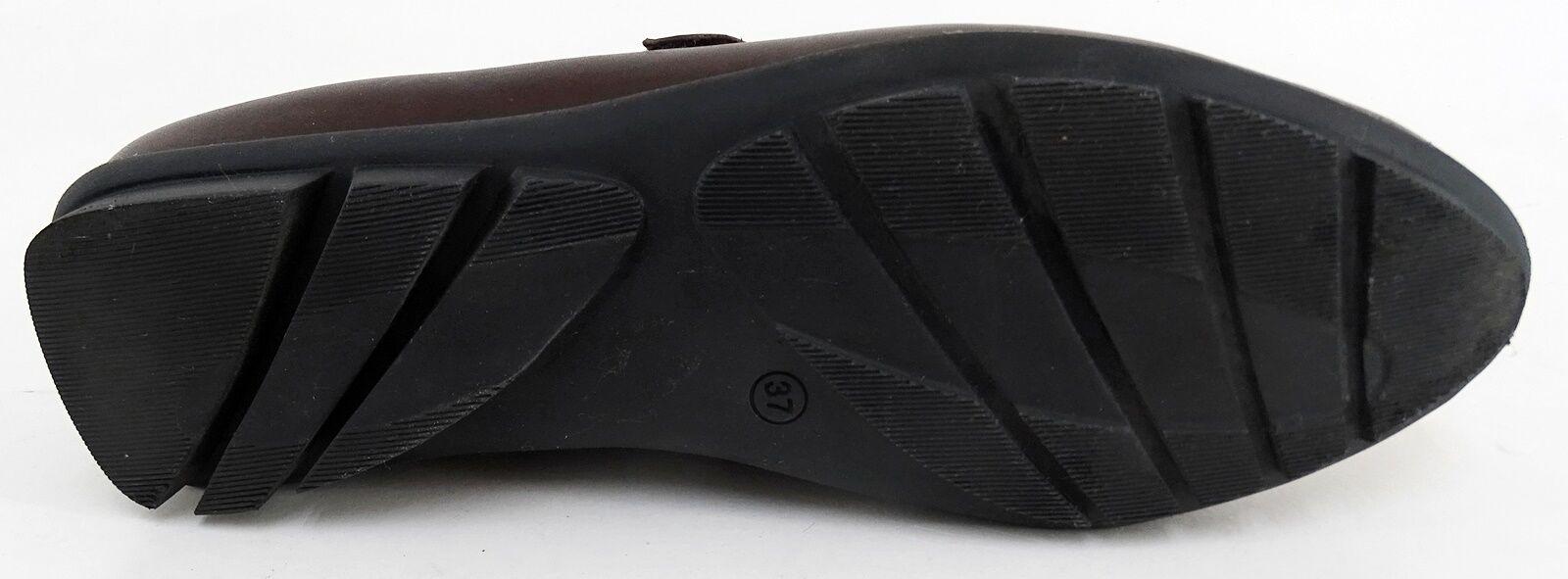 Zapato Zapato Zapato bajo marc velcro zapatilla cuero genuino marrón talla 37 01579c