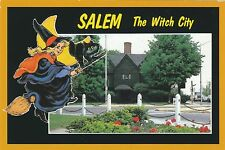 Salem Witch The Witch City Witch House Massachusetts Mass MA Postcard