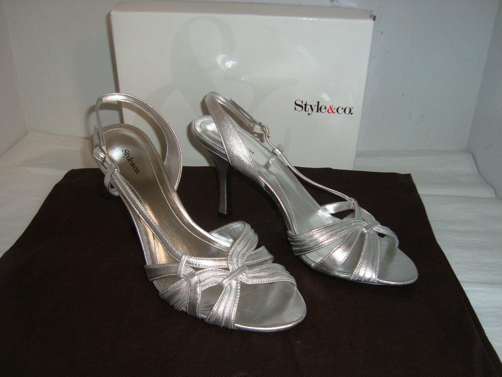 NEU Style & Co Lafay Silver Sandales 9 Medium Schuhes