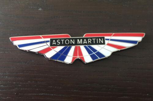 Aston Martin Logo With Union Jack Flag Background WEC Enamel Badge