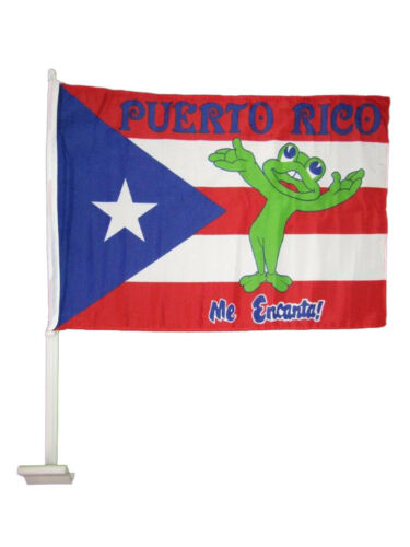 "Frog Car Vehicle 12/""x18/"" Flag 12x18 Wholesale Lot 12 Puerto Rico Me Encanta"