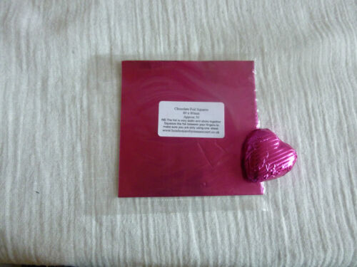 40-50 Square Foil Wrappers in Fuchsia for Chocolates /& Sweets.80mm x 80mm.