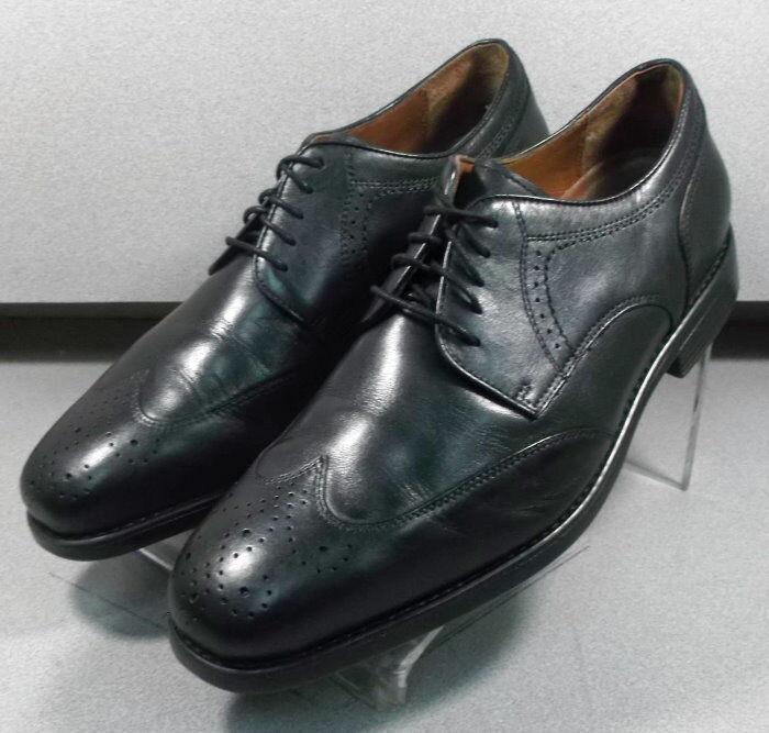 153027 PF50 Men's Shoes Size 12 W Black Leather Lace Up Johnston & Murphy