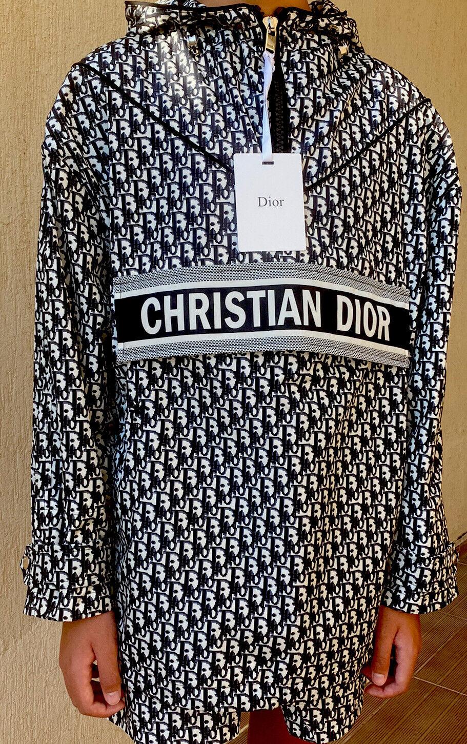Dior logo An0rak Obilque hoodie jacket blue unisex size S