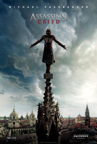 ASSASSIN/'S CREED MOVIE POSTER 2 Sided ORIGINAL Advance 27x40 MICHAEL FASSBENDER