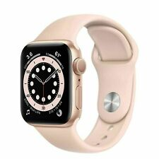 NEUF Apple Watch Series 6 GPS 40mm Gold Aluminium Case with Sport Band MG123