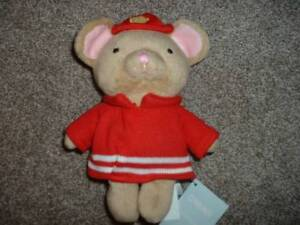 Gymboree-Baby-Infant-Boy-Snow-Cozy-Fireman-Mouse-Animal-Plush-Rattle-8-034-Toy-NWT