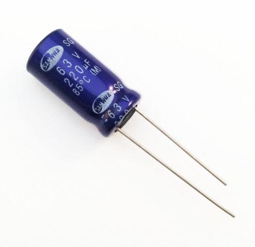 Condensatore Elettrolitico 220uF 63V 85°C Radiale 10x20mm SG SAMWHA