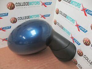 MINI-R55-R56-R57-06-13-O-S-DRIVERS-ELECTRIC-WING-MIRROR-LIGHTNING-BLUE-5-PIN